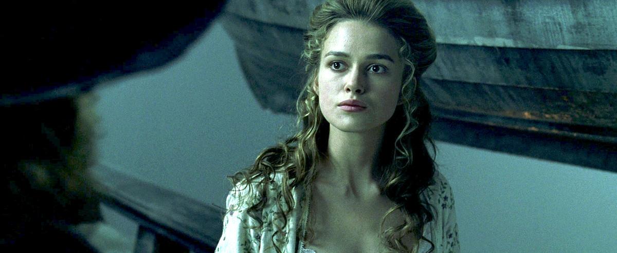 elizabeth swann in her white nightgown