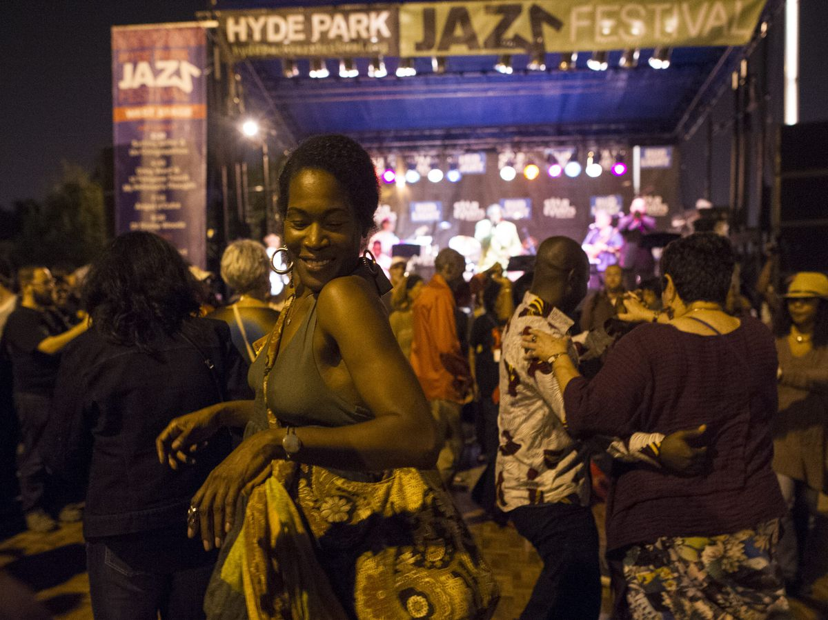 Dancing at the 2017 Hyde Park Jazz Festival. | Courtesy HPJF and Marc Monaghan