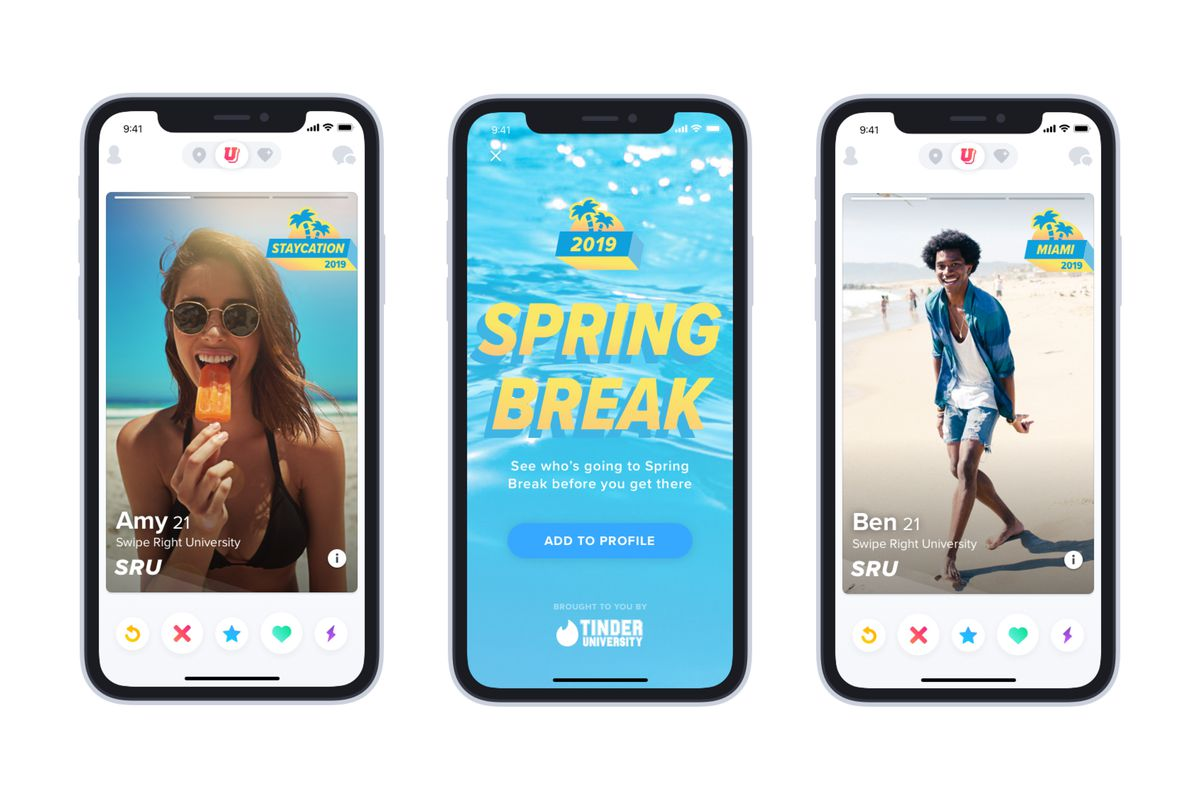 Tinders Spring Break Mode Lets College Students Swipe