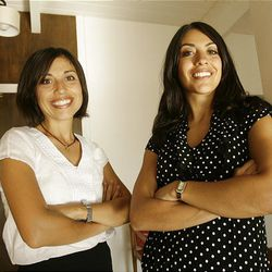 Sisters Shima (R) and Mehrsa Baradaran are both in their first year as faculty members at BYU Law School in Provo, Utah, Thursday, Sept. 16, 2010.