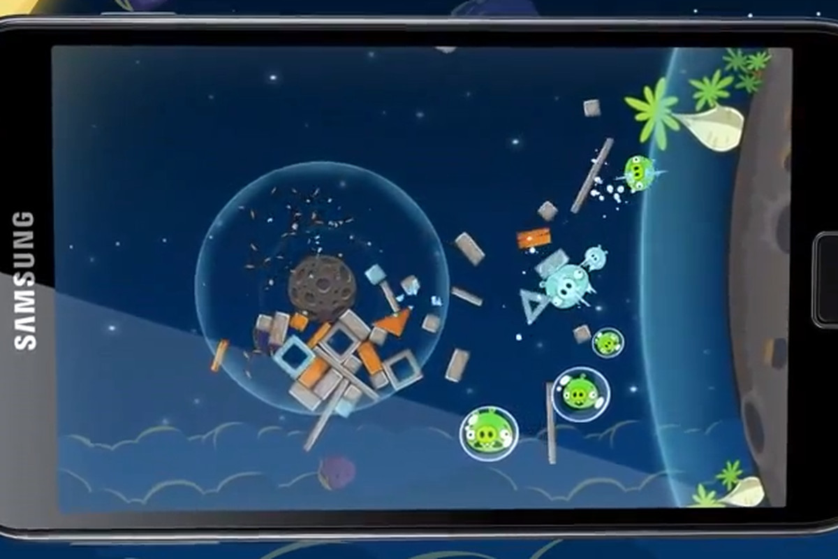 angry birds space samsung