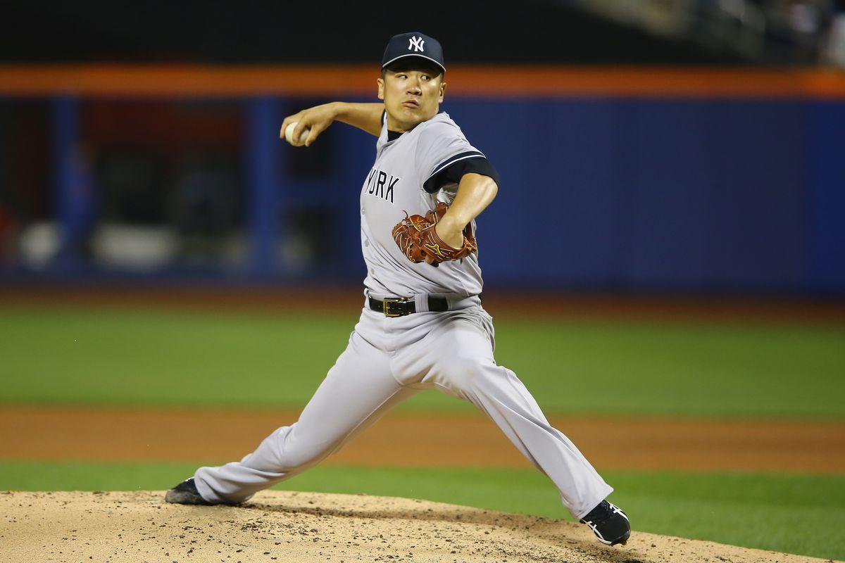 Masahiro Tanaka throwing his splitter - one of baseball's best pitches