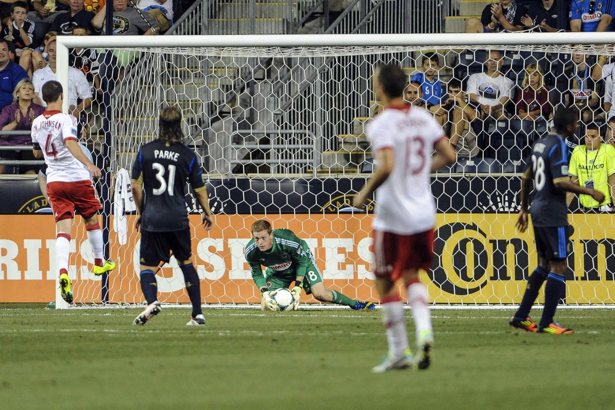 Union goalie Zac MacMath was doing this all night.