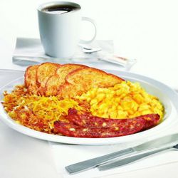 Cheesy Breakfast Sampler: 710 calories.