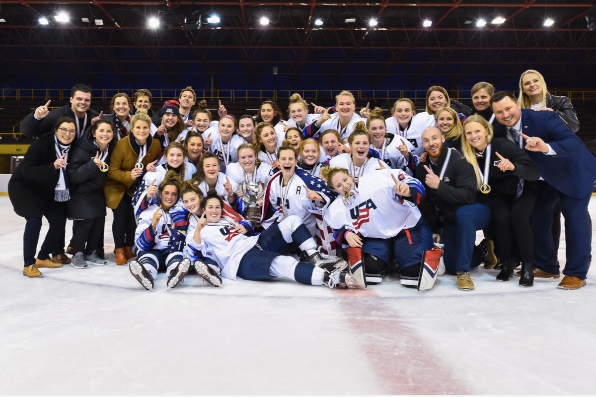 Usa Wins The 2020 U18 World Championship 2 1 In Overtime The Ice Garden