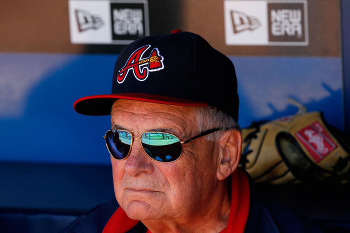Bobby Cox gazes over the horizon. (Photo by Kevin C. Cox/Getty Images)