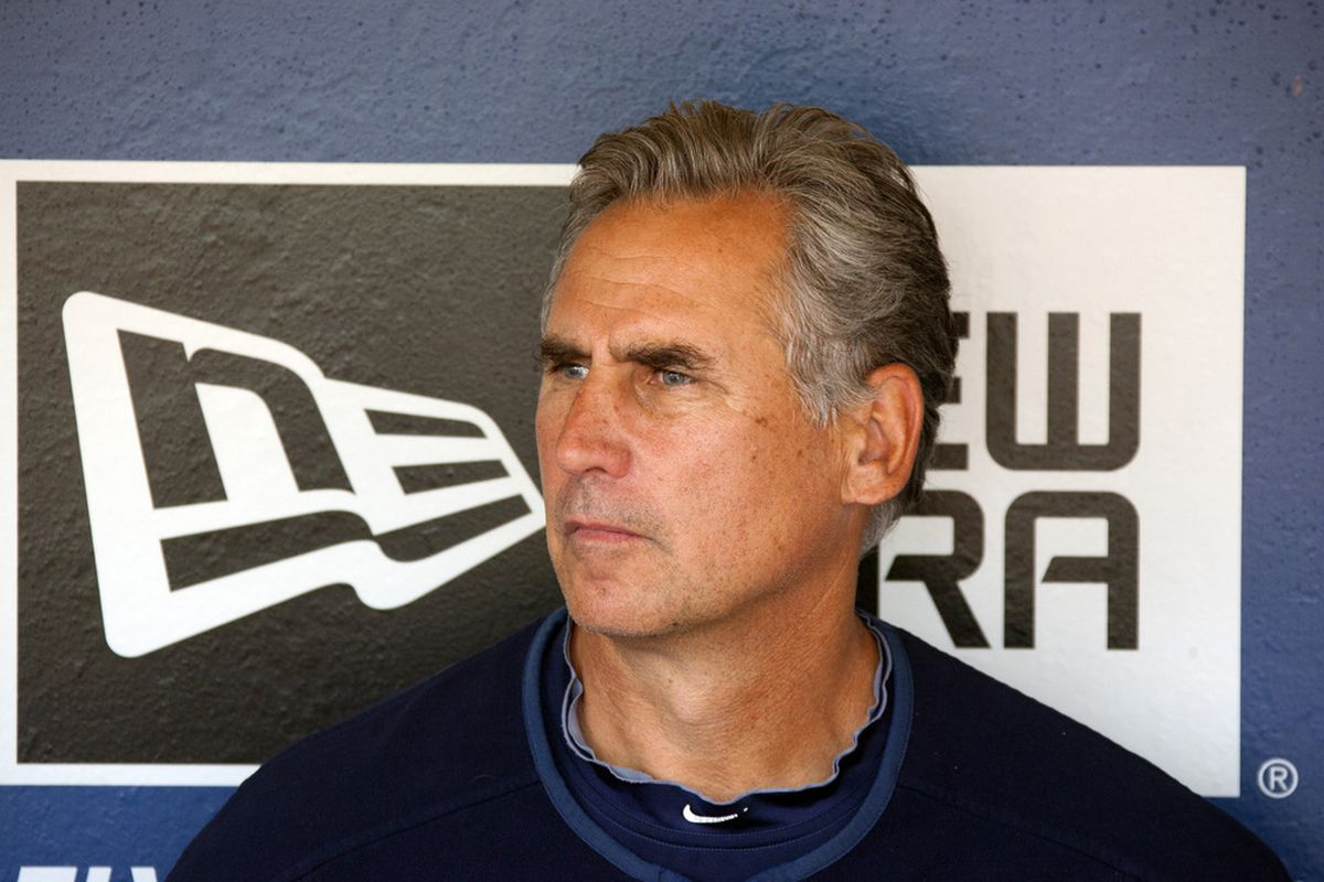 SAN DIEGO, CA - JULY  31: Manager Bud Black of the San Diego Padres speaks with members of the media prior to the game against the Colorado Rockies on July 31, 2011 in San Diego, California. (Photo by Kent C. Horner/Getty Images)