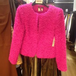 Fuzzy jacket (sample), $99