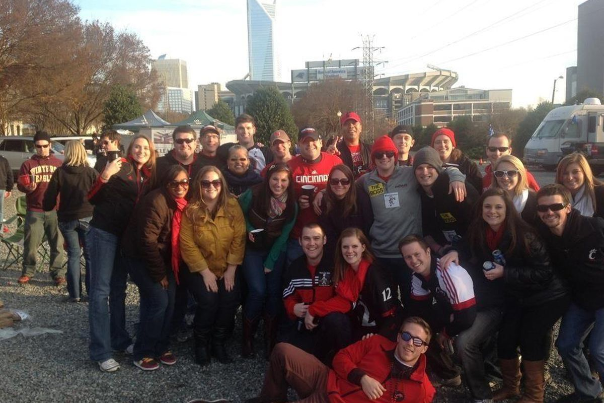 Tailgating before the 2012 Belk Bowl