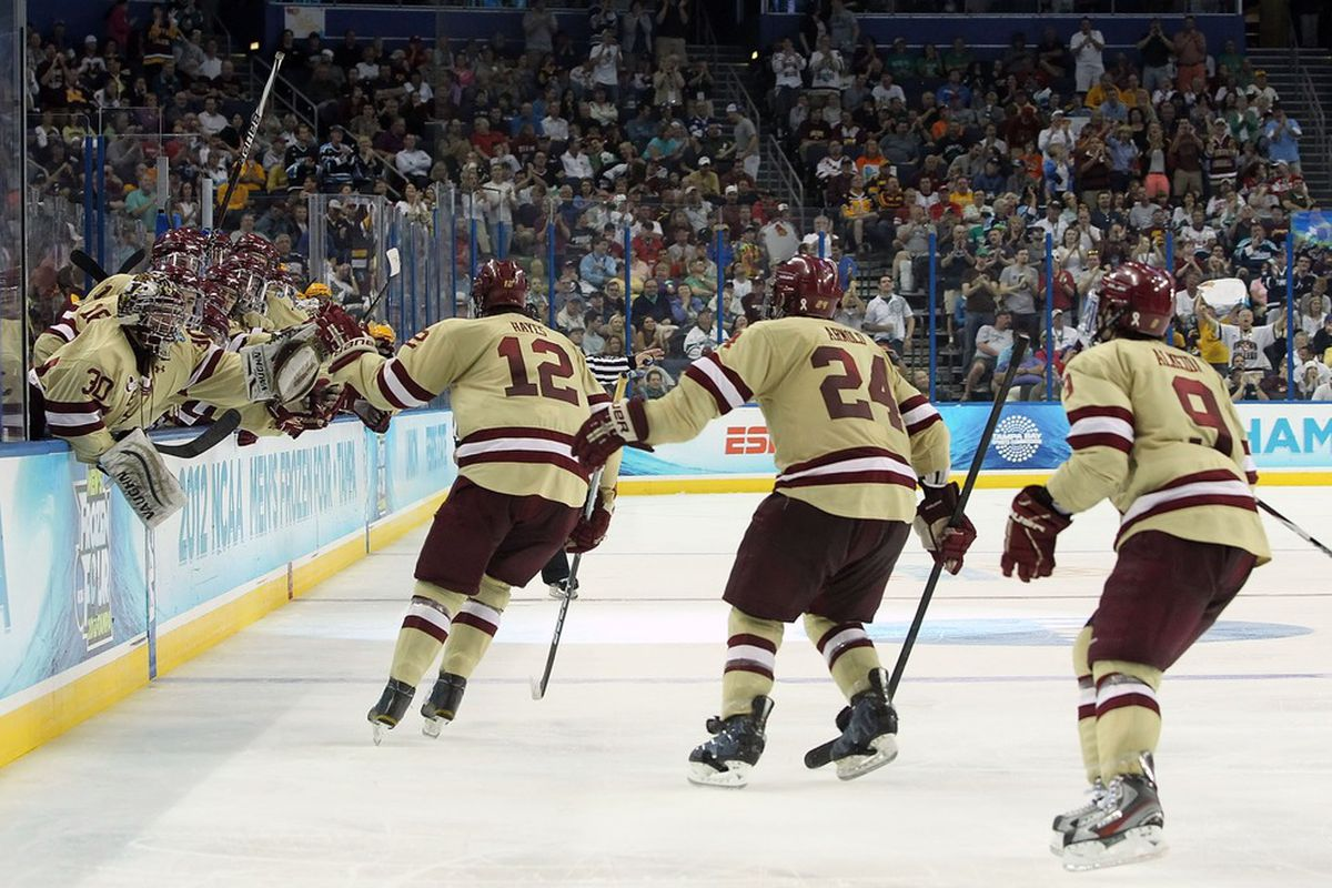 Kevin Hayes made a nice play on BC's first goal.