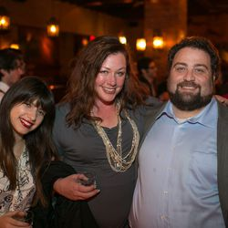 Eater Editorial Assistant Jackie Goldstein, Susan Stapleton, and Eric Sandler