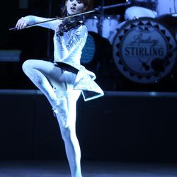 """Lindsey Stirling performs at the Red Butte Garden Amphitheatre in Salt Lake City on Friday, May 29, 2015. Her book, """"The Only Pirate at the Party,"""" hit shelves and websites Jan. 12."""