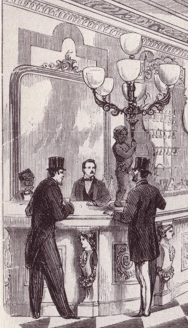 Thomas Bros Saloon, New York, 1860