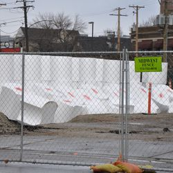 """More """"marshmallows"""" inside the fence in the triangle lot"""