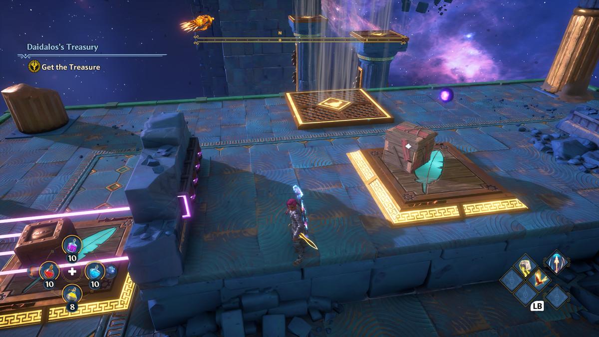 Daidalos's Treasury puzzle solution in Immortals Fenyx Rising