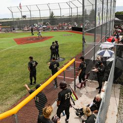 Lone Peak and Riverton compete in a high school baseball game in Highland on Tuesday, June 2, 2020.