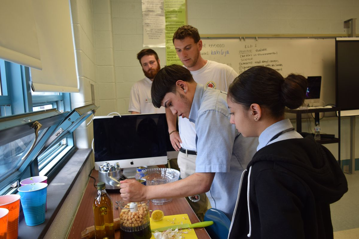 Students at Kensington Health Sciences Academy can participate in cooking clubs designed to teach about healthy, easy-to-make meals.