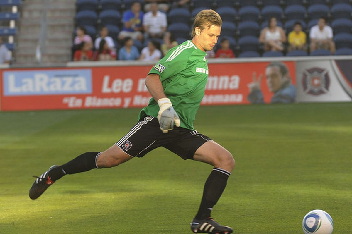 D.C. United has added goalkeeper Andrew Dykstra, a Virginia native who played for the Chicago Fire from 2009-2010. (Photo by David Banks/Getty Images)