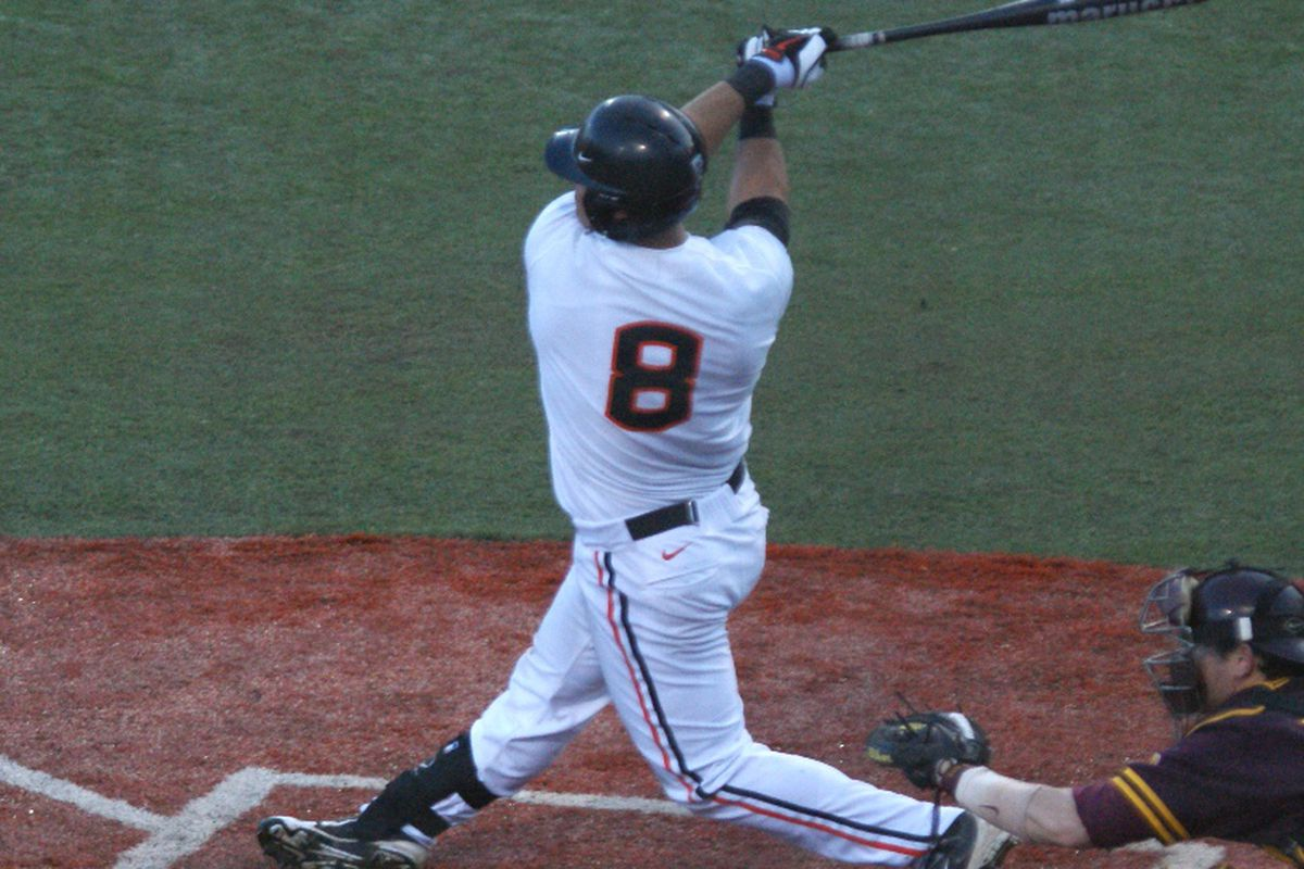 Michael Conforto is the centerpiece of second ranked Oregon St.'s team. How will Coach Pat Casey fill in the spots around him?