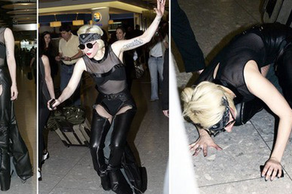 "Image via <a href=""http://gawker.com/5570977/it-finally-happened-lady-gaga-fell-on-her-face"">Gawker</a>"