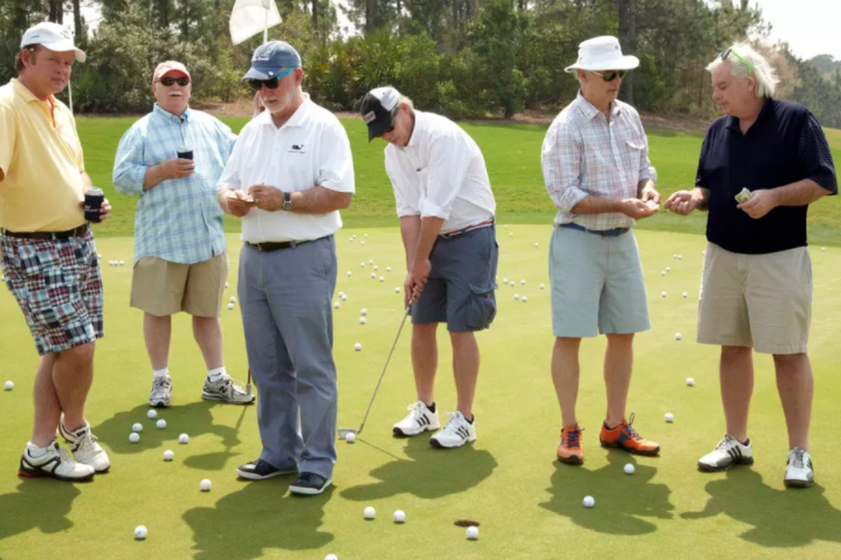 The Murray Brothers of Murray Bros. Caddyshack Restaurant : (left to right): Joel, Brian Doyle, Ed, Johnny, Bill and Andy,