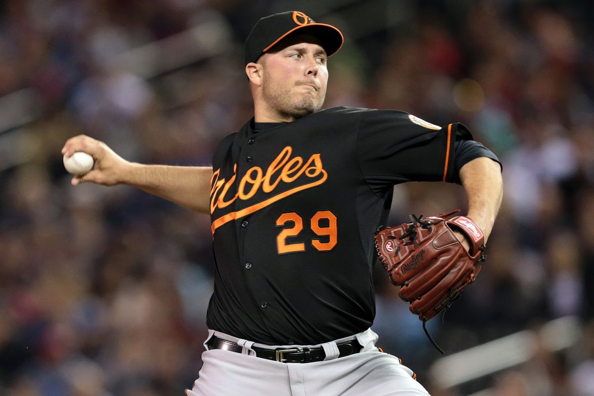 Former Tide star, Tommy Hunter, of the Baltimore Orioles
