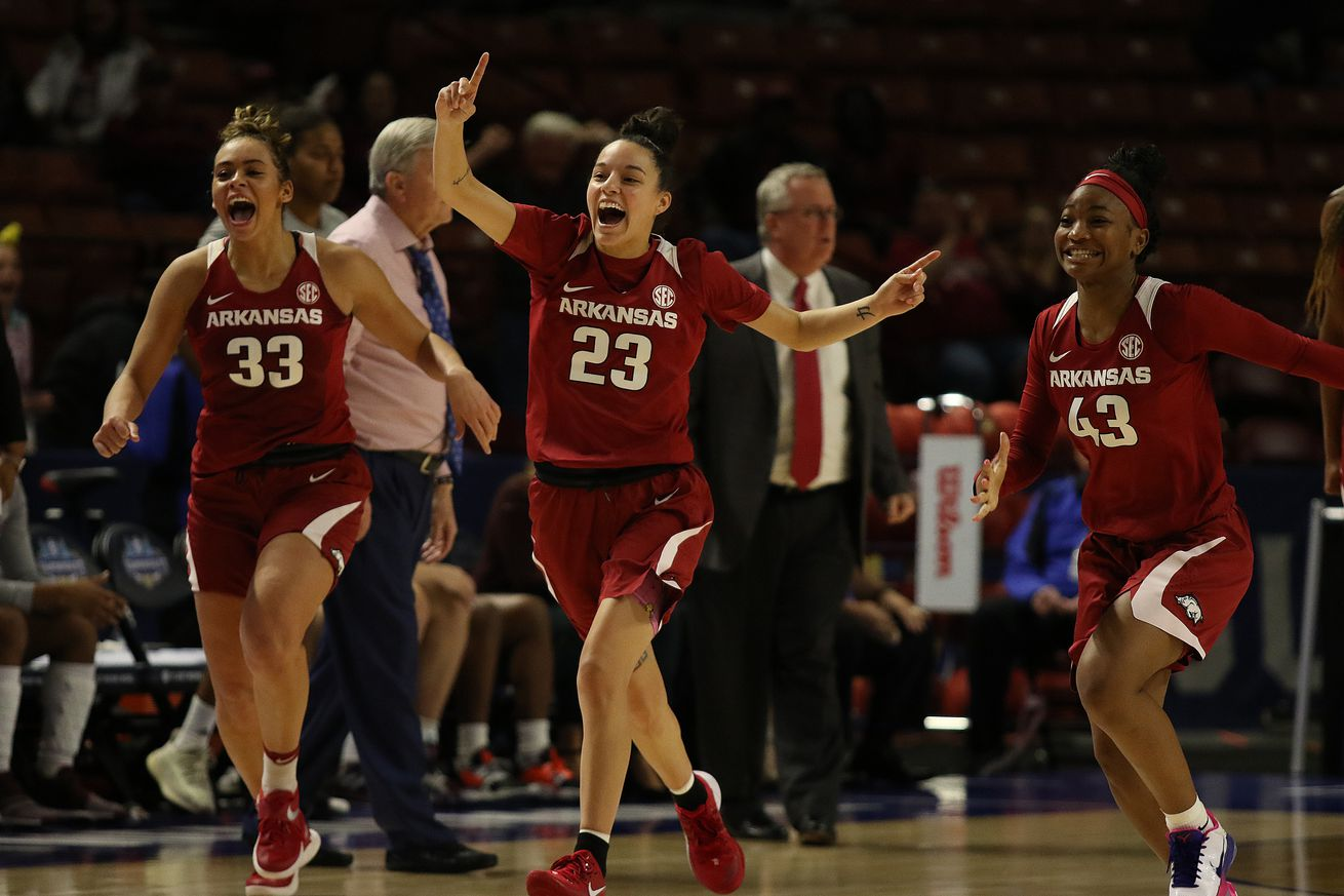 COLLEGE BASKETBALL: MAR 06 SEC Women's Tournament - Arkansas vs Texas A&M