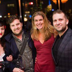 Reana Kovalcik, Dovetail's John Fraser,  Nancy Easton, Le Rivage's Paul Denamiel