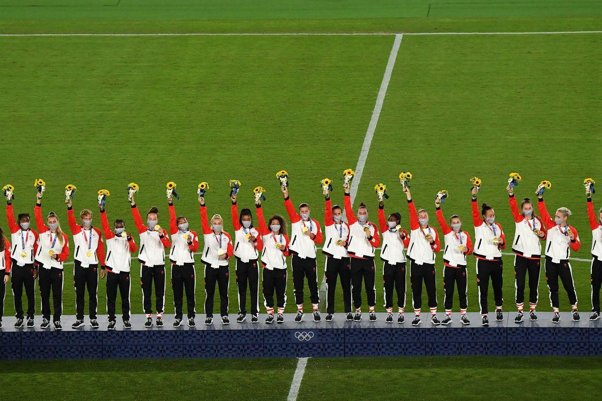 FOOTBALL-OLY-2020-2021-TOKYO-PODIUM