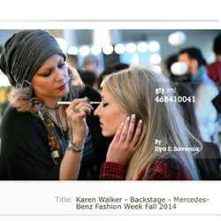 A shot of me on Getty Images from the Karen Walker show.