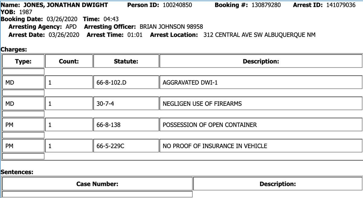 Jon Jones UFC 249 Arrest MMA News DWI DUI Shakiel Mahjouri COVID-19 Coronavirus