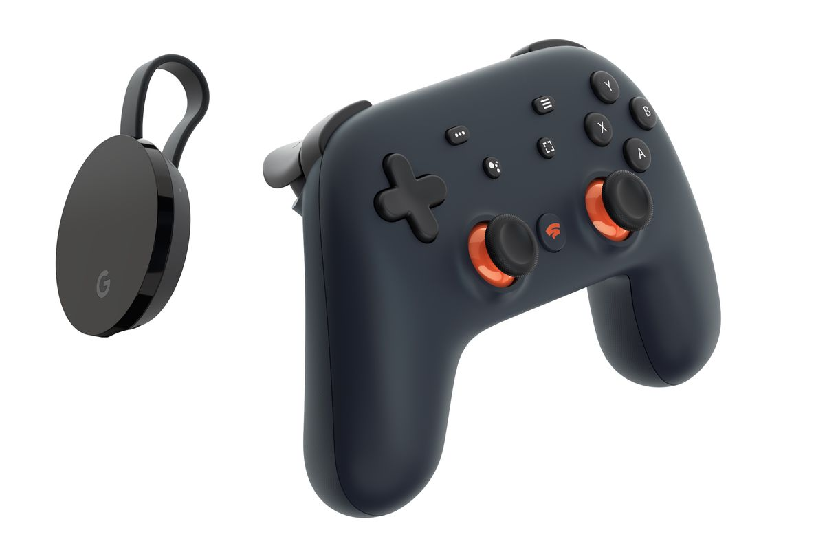 Google Chromecast Ultra and Stadia Founders Edition controller