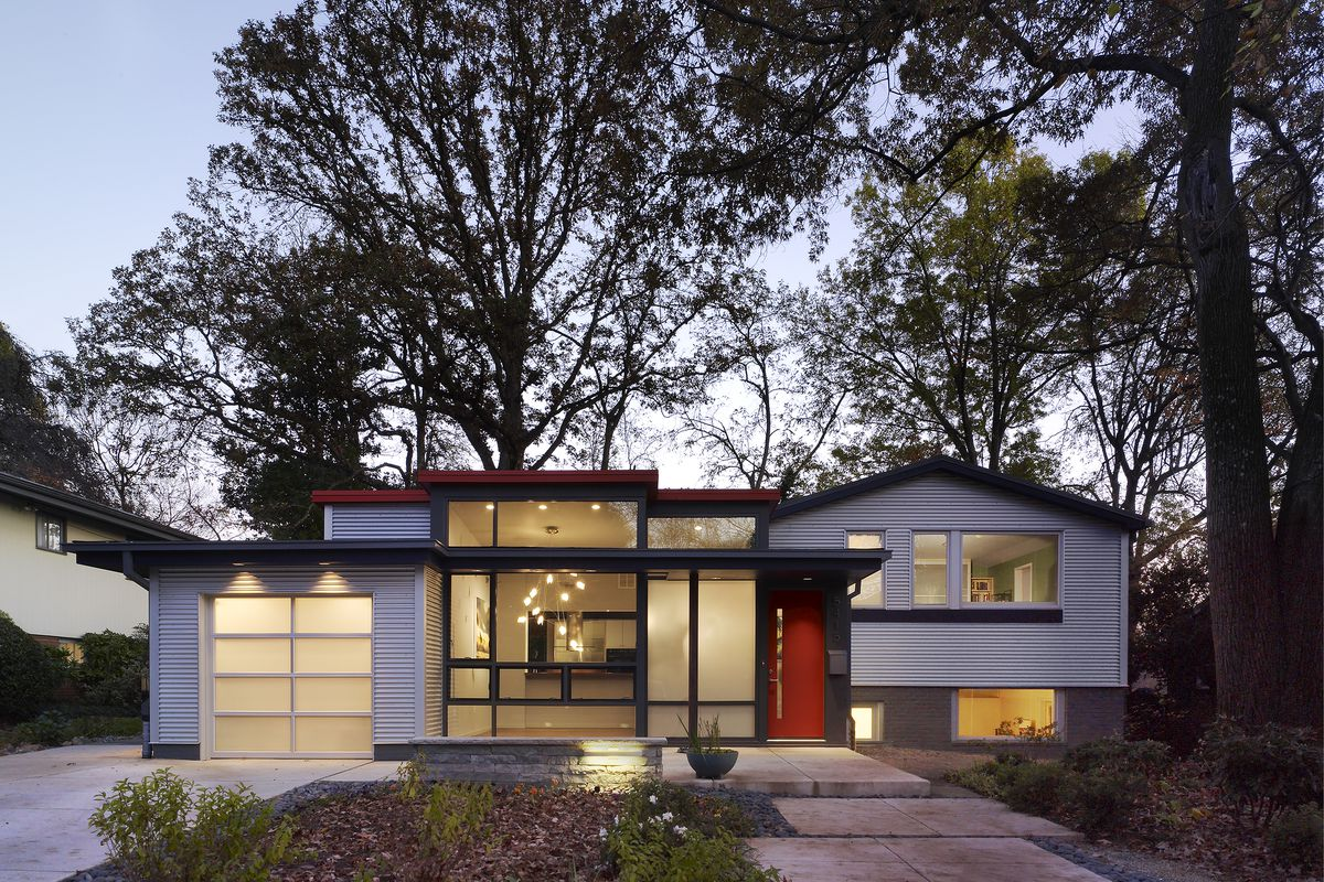 Glassy, modern Chevy Chase home lists for $1.8M - Curbed DC
