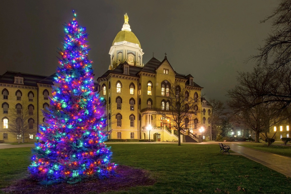 Merry Christmas Notre Dame Fans - One Foot Down