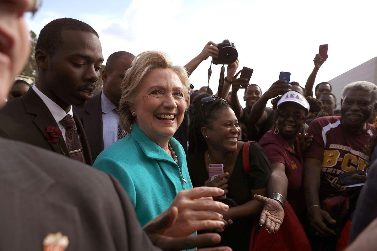 Democratic Presidential Nominee Hillary Clinton Holds Rally In Daytona Beach, Florida