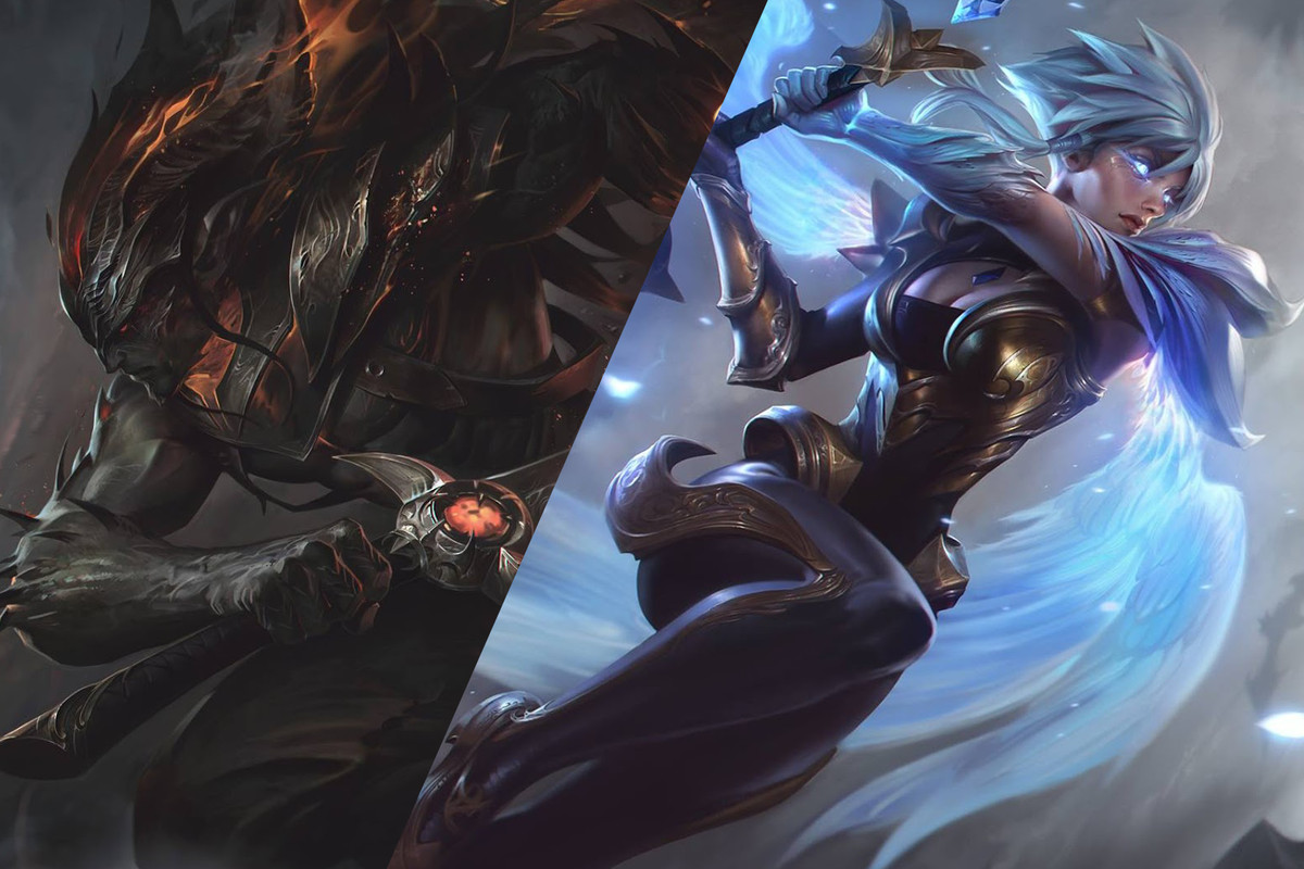New Yasuo And Riven Skins Nightbringer And Dawnbringer Are Rad