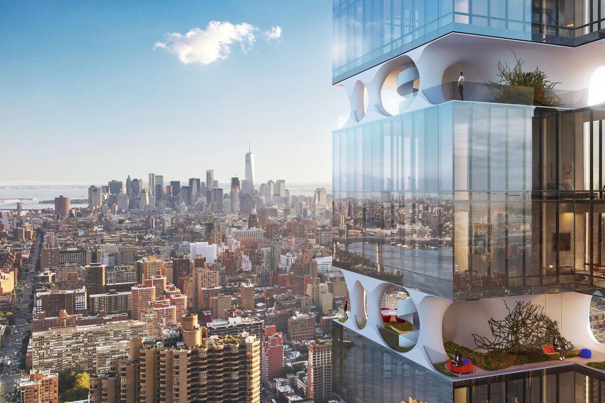 Midtown tower with private garden amenity brakes for luxury slump curbed ny - Residence de standing oda new york ...