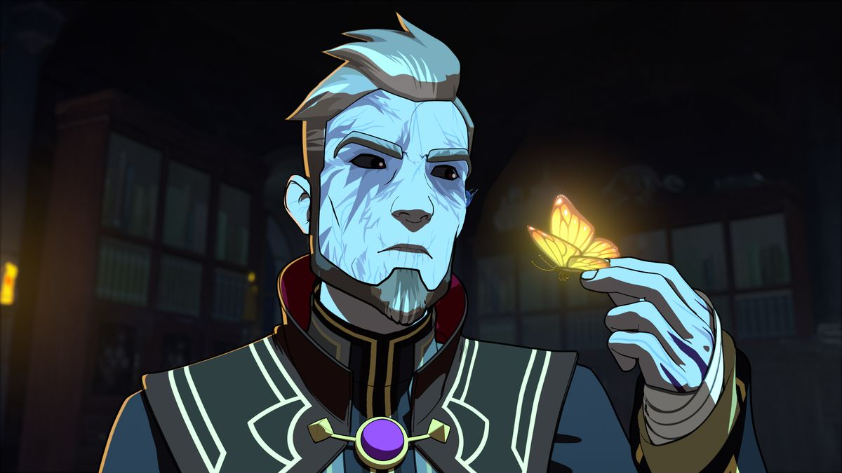 The Dragon Prince - Lord Viren in his chambers.