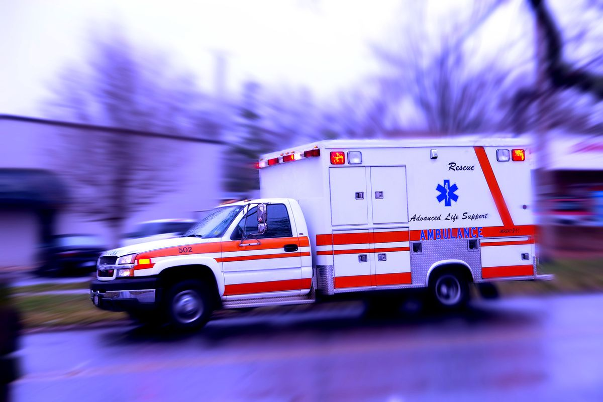A man was hospitalized in critical condition after being struck by a car Wednesday night.