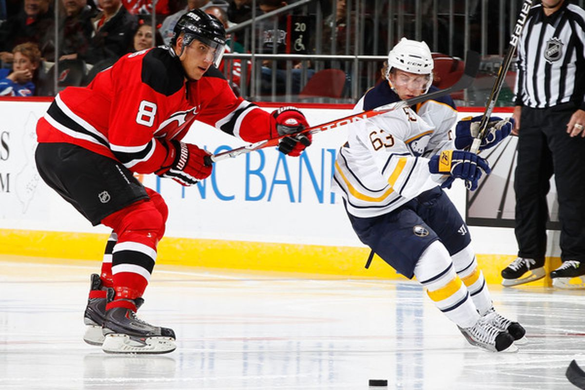 No, Dainius, see, this is the kind of carelessness that Devils fans are disgusted with.   (Photo by Mike Stobe/Getty Images)