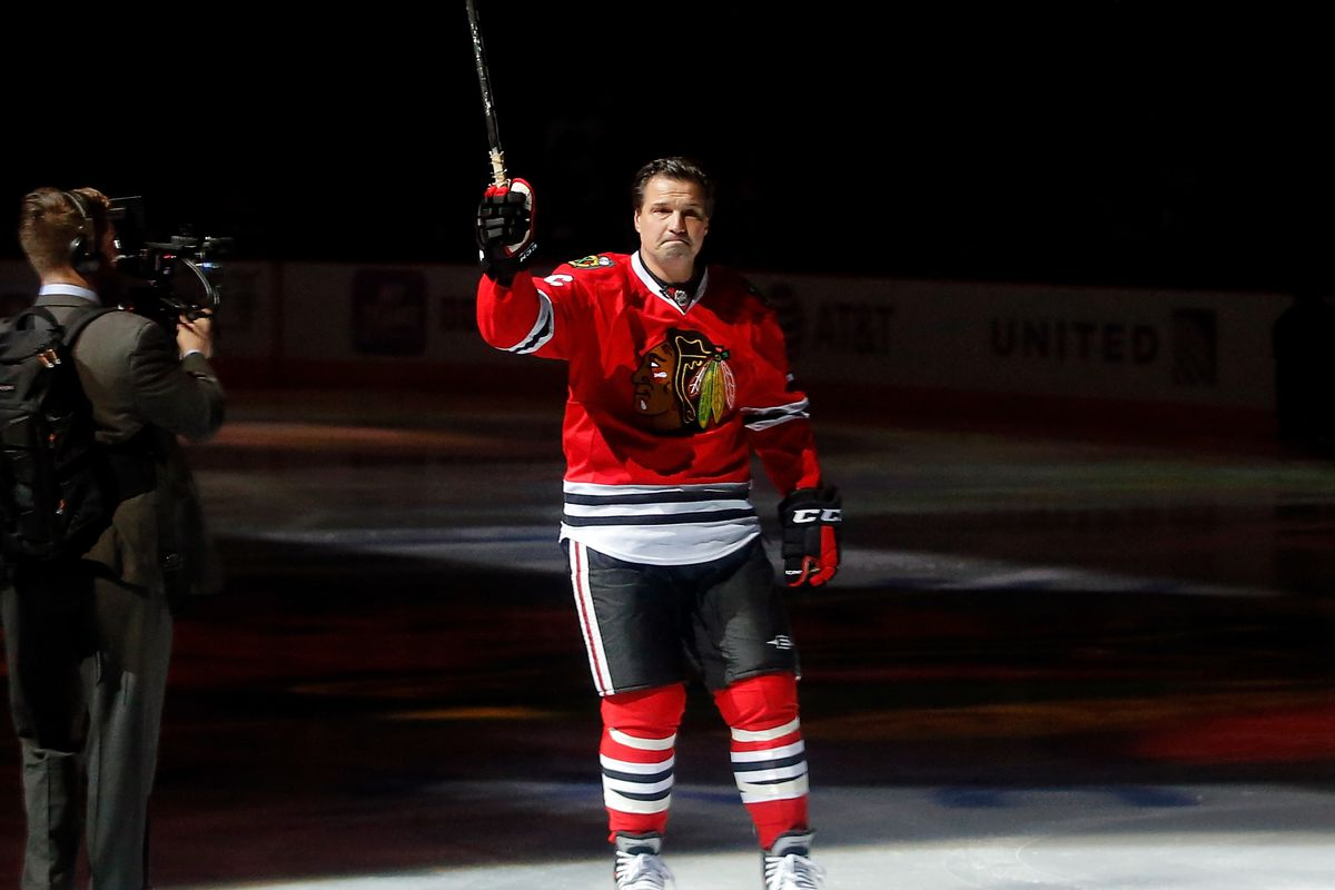 Blackhawks honor Eddie Olczyk with 'One More Shift' on 'Hockey Fights Cancer'  night - Second City Hockey