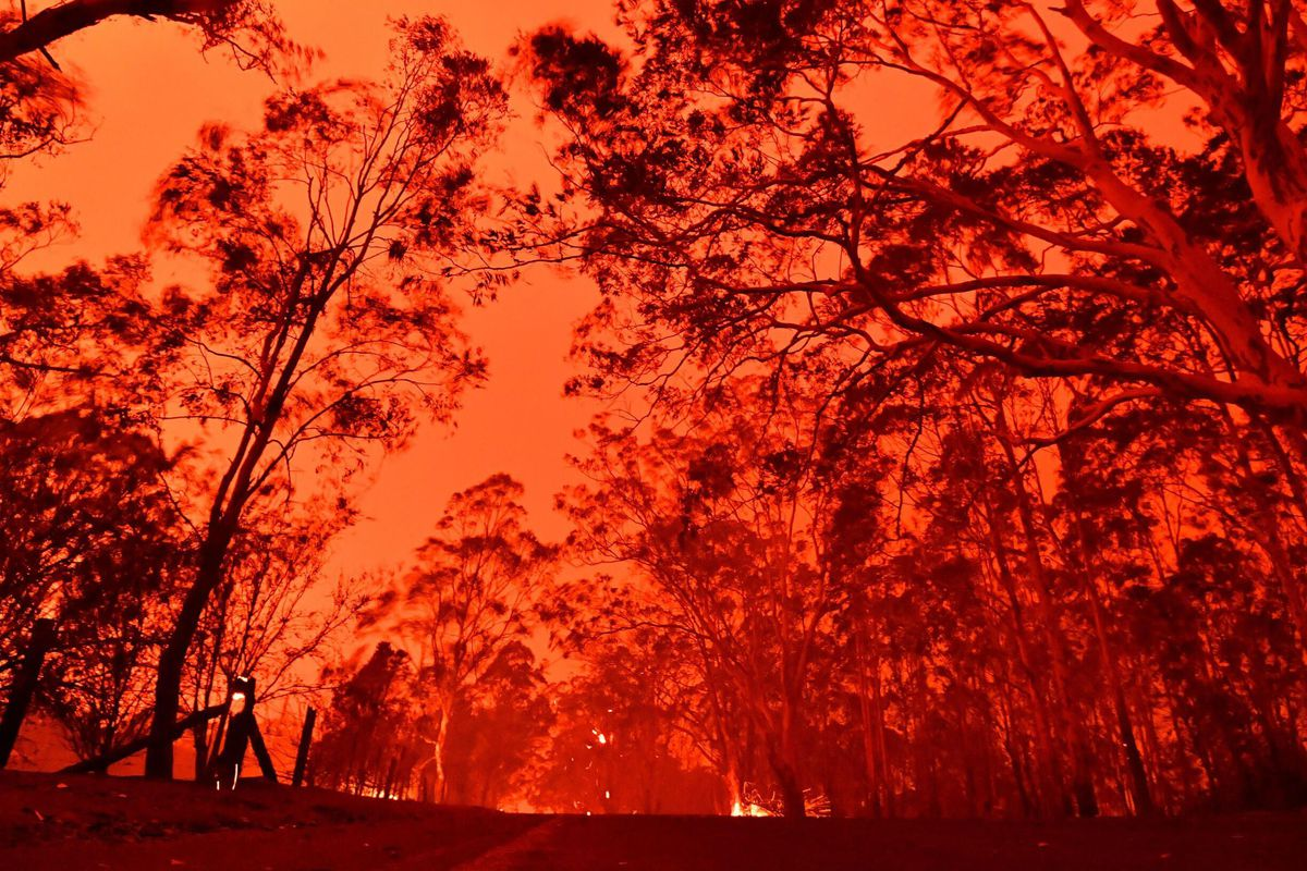 Wildfires burning in New South Wales, Australia