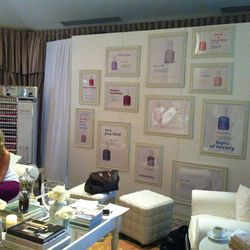 The Essie-fied lounging area