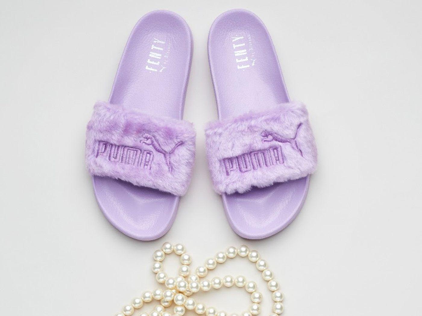 2aede89aaa7 Where to Buy Rihanna s Fenty Puma Fur Slides - Racked