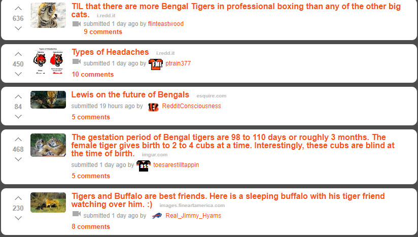Bengals' Reddit page has 4,000 upvotes to change into a