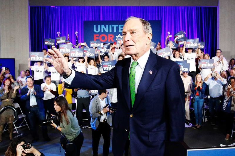 Mike Bloomberg campaigns in Florida.