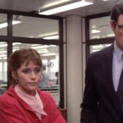 """There's more banter in the newsroom in the three-hour version of """"Superman"""" (1978), now on Blu-ray. Shown here are Jackie Cooper, left, as editor Perry White; Margot Kidder as reporter Lois Lane and Christopher Reeve as Clark Kent, Superman's secret identity."""