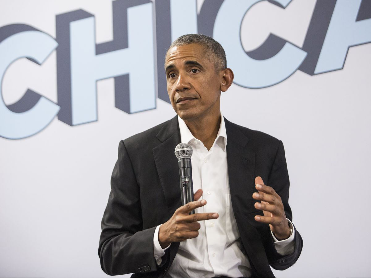 Former President Barack Obama meets with stakeholders and community members at the Obama Foundation's headquarters in Hyde Park, Tuesday afternoon, Aug. 28, 2018. | Ashlee Rezin/Sun-Times