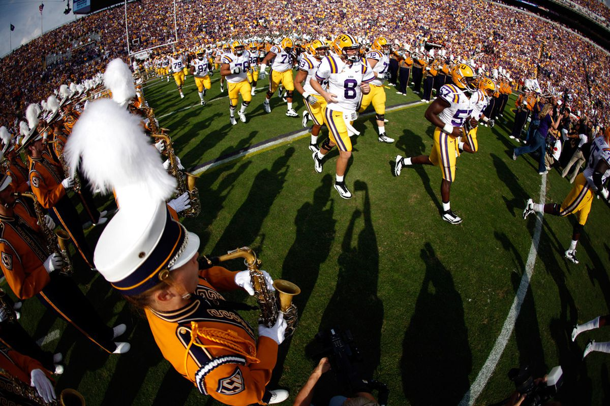 The mercenaries of LSU will march in and out of Auburn with little problem.  (Photo by Chris Graythen/Getty Images)