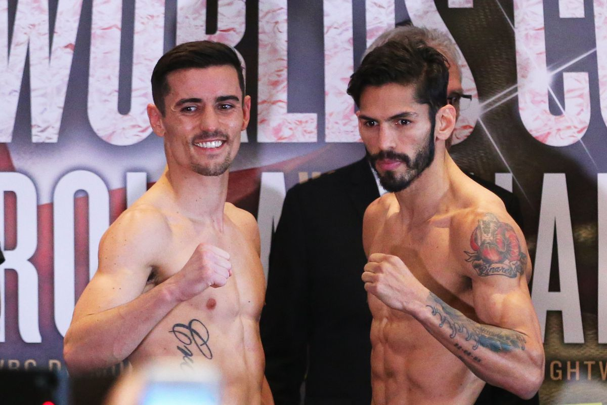 Anthony Crolla v Jorge Linares: Weigh-In
